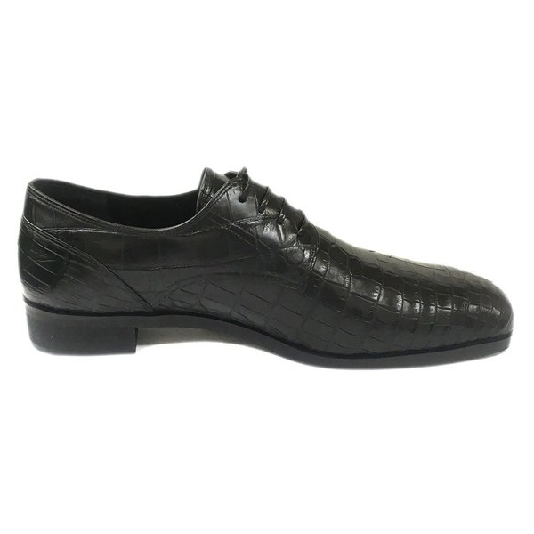 クロコダイル ロングノーズ プレーントゥ紳士靴 LC8008 ワイズも選べる受注生産 日本製・自社内製造|luxcel-shop|02
