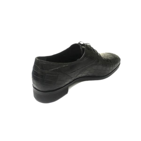 クロコダイル ロングノーズ プレーントゥ紳士靴 LC8008 ワイズも選べる受注生産 日本製・自社内製造|luxcel-shop|03