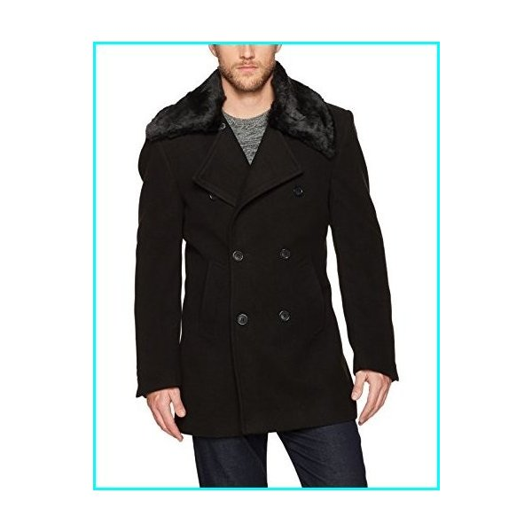 STACY ADAMS Mens Zorro Double Breasted 34 Inch Topcoat