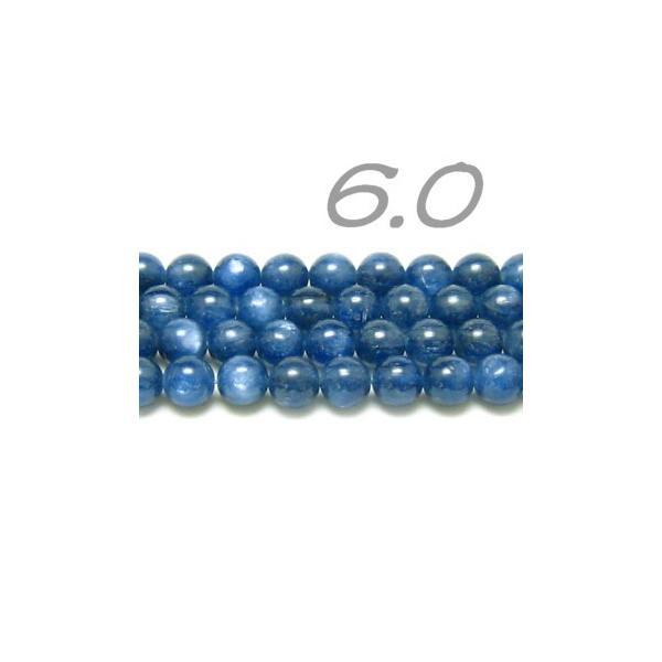 連ビーズ!  高品質 カイヤナイト 6.0 mm玉 AAA  (連/約40cm)