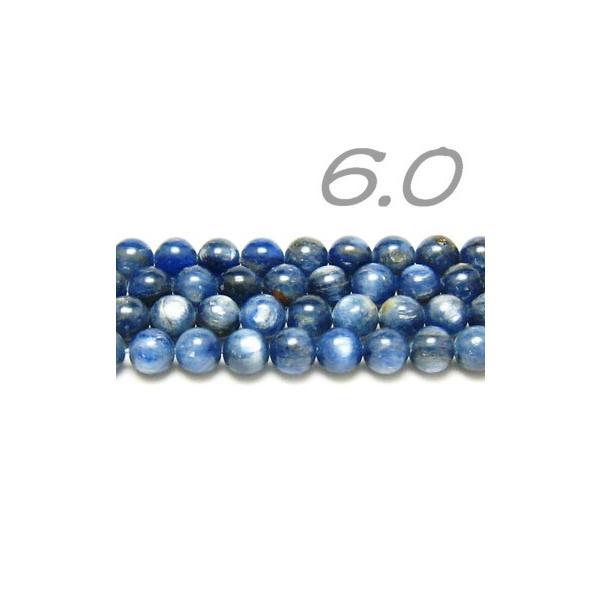 連ビーズ!   カイヤナイト 6.0 mm玉 AA  (連/約40cm)