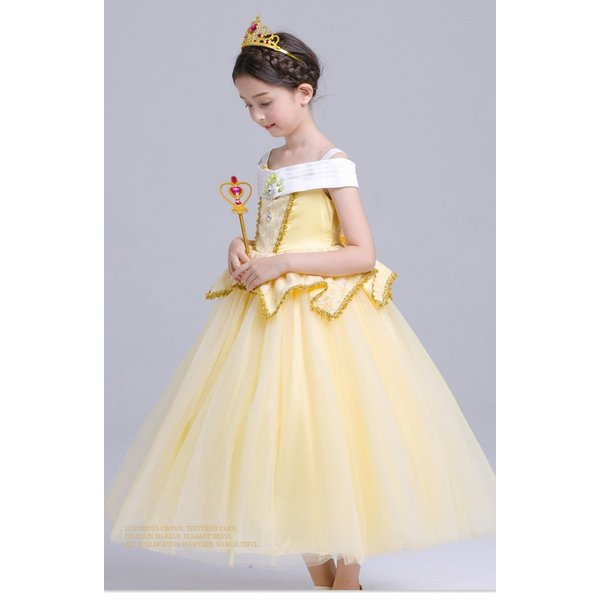 c5a20f3a129d9 ... 子供 プリンセスドレス 塔の上のラプンツェル ラプンツェル コスチューム ドレス アームカバー 花カンムリ ハロウィン ...