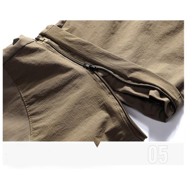 メンズ アウトドアパンツ ロングパンツ ショートパンツ 2way 登山用パンツ トレッキングパンツ 自転車パンツ スポーツウェア サイクリングパンツ|lwf|04