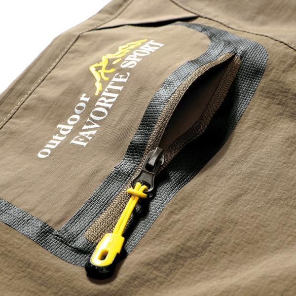 メンズ アウトドアパンツ ロングパンツ ショートパンツ 2way 登山用パンツ トレッキングパンツ 自転車パンツ スポーツウェア サイクリングパンツ|lwf|05