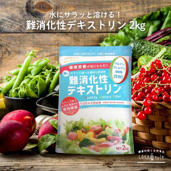 難消化性デキストリン(サラッと溶ける即溶顆粒タイプ)2kg水溶性食物繊維デキストリン難消化性デキストリンindigestible