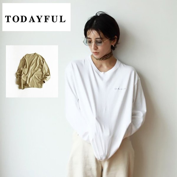 TODAYFUL LIFE's Lettering Long T-Shirts  トウディフル ライフズ トップス カットソー ロゴ ロンT 11910617 m-i-e