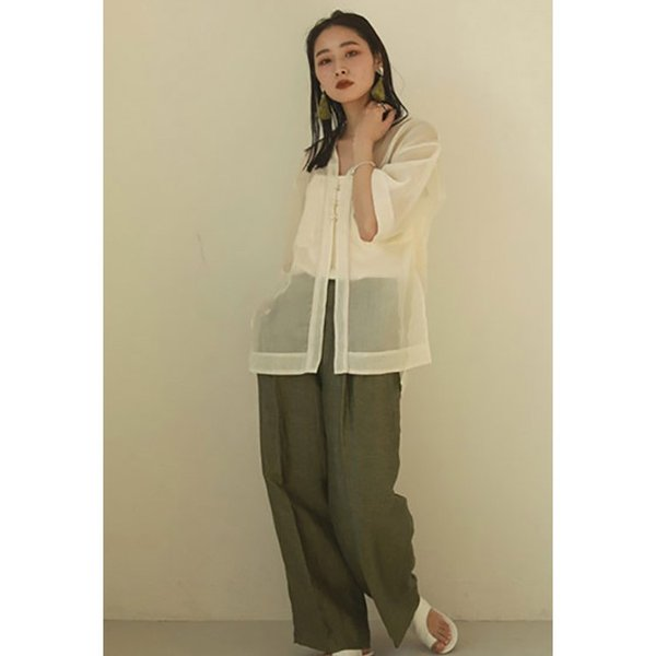 TODAYFUL LIFE's Delave Linen Trousers 12010726|m-i-e|07