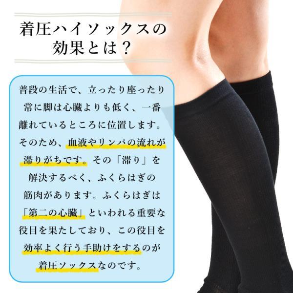 メール便送料無料 3足セット 日本製 5本指ハイゲージ 着圧ハイソックス 靴下 レディース ファッション 夏物|m-mall|05