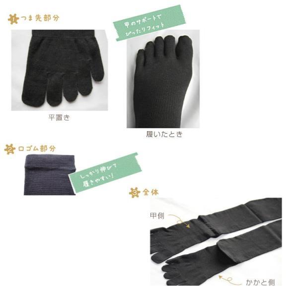 メール便送料無料 3足セット 日本製 5本指 着圧ハイソックス 靴下 レディース ファッション m-mall 12