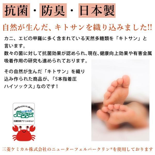 メール便送料無料 3足セット 日本製 5本指 着圧ハイソックス 靴下 レディース ファッション m-mall 05