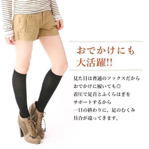 メール便送料無料 3足セット 日本製 5本指 着圧ハイソックス 靴下 レディース ファッション m-mall 09