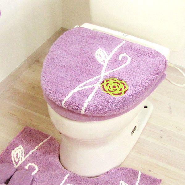 北欧 フタカバー  (洗浄暖房型・吸着シートタイプ)  エトフ  (北欧 トイレ おしゃれ トイレフタ 洗濯可 トイレ用品)  オカ|m-rug|04