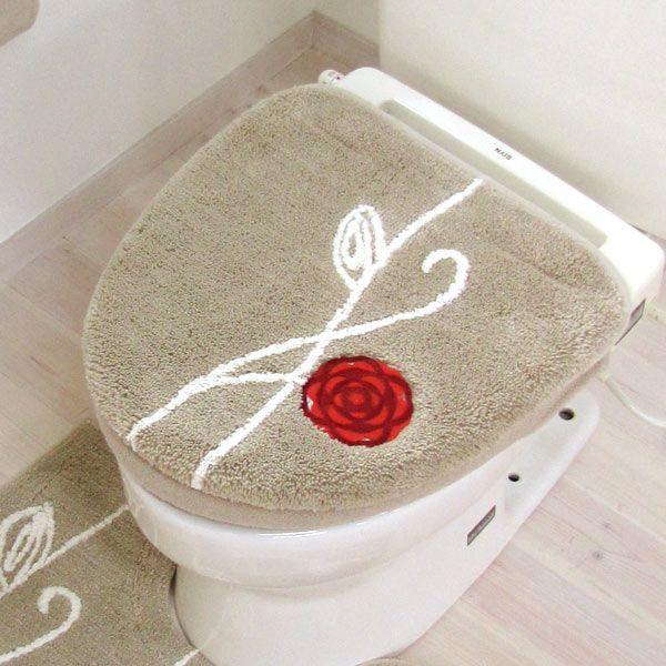北欧 フタカバー  (洗浄暖房型・吸着シートタイプ)  エトフ  (北欧 トイレ おしゃれ トイレフタ 洗濯可 トイレ用品)  オカ|m-rug|05