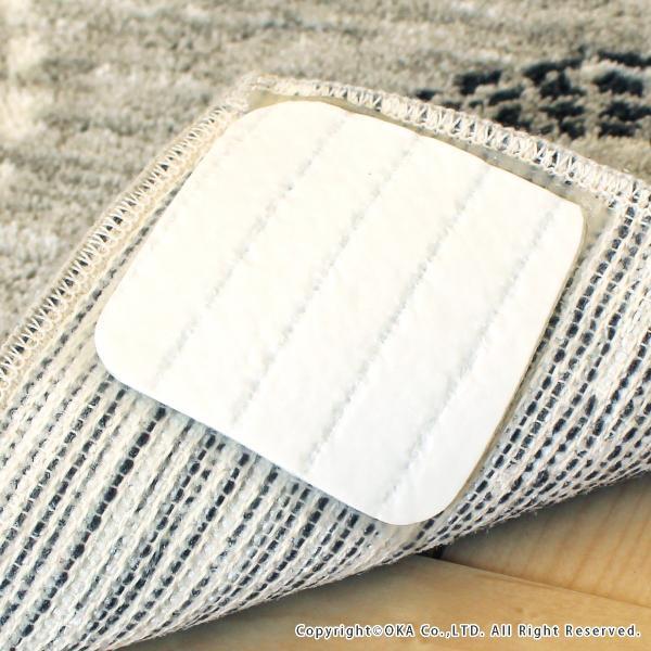 玄関マット 室内 ミスティサークル 約45×75cm   (コーナー吸着つき 洗える 日本製 ウィルトン織り すべり止め付き おしゃれ)  オカ|m-rug|04