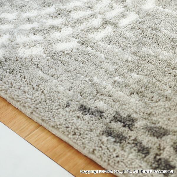 玄関マット 室内 ミスティサークル 約45×75cm   (コーナー吸着つき 洗える 日本製 ウィルトン織り すべり止め付き おしゃれ)  オカ|m-rug|05