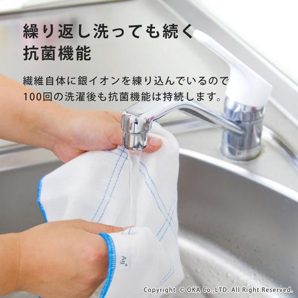 Ag+(エージープラス)除菌ふきん 2枚入り(1組セット) (除菌 におわない 銀イオン 食卓 台ふきん かや織り) オカ|m-rug|07