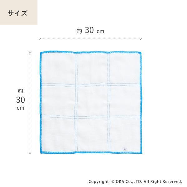 Ag+(エージープラス)除菌ふきん 2枚入り(1組セット) (除菌 におわない 銀イオン 食卓 台ふきん かや織り) オカ|m-rug|09