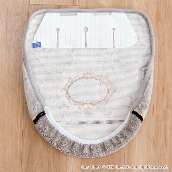 フタカバー (吸着シート・ドレニモタイプ 洗浄暖房型 普通型 兼用)  シェニールロゼ (トイレカバー ウォシュレット 高級 シェニール織 洗える 洗濯可) オカ m-rug 16