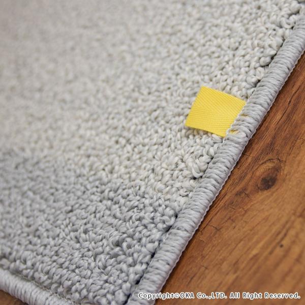 トイレマット (約75×63cm)プラット (おしゃれ 無地 グレー プレーン ふかふか シンプル) オカ|m-rug|04