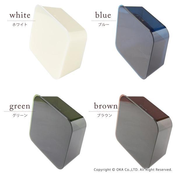 ゴミ箱 PLYS base (プリスベイス) 洗面ゴミ箱 小さい 壁 貼り付けられる マジックテープ クリア 小さめ グッドデザイン賞 m-rug 06