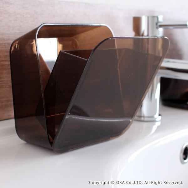 ゴミ箱 PLYS base (プリスベイス) 洗面ゴミ箱 小さい 壁 貼り付けられる マジックテープ クリア 小さめ グッドデザイン賞 m-rug 08