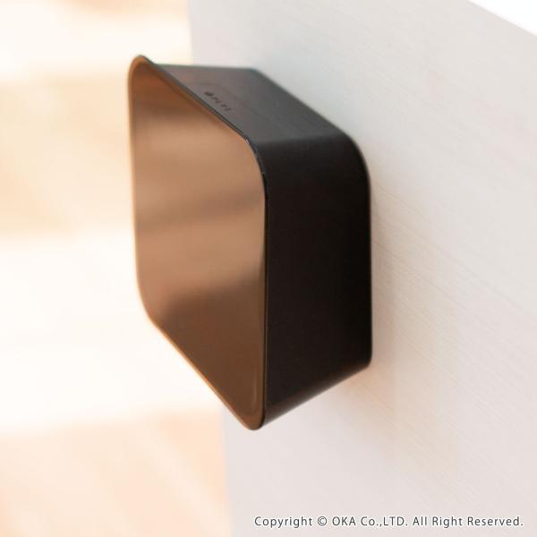 ゴミ箱 PLYS base (プリスベイス) 洗面ゴミ箱 小さい 壁 貼り付けられる マジックテープ クリア 小さめ グッドデザイン賞 m-rug 09