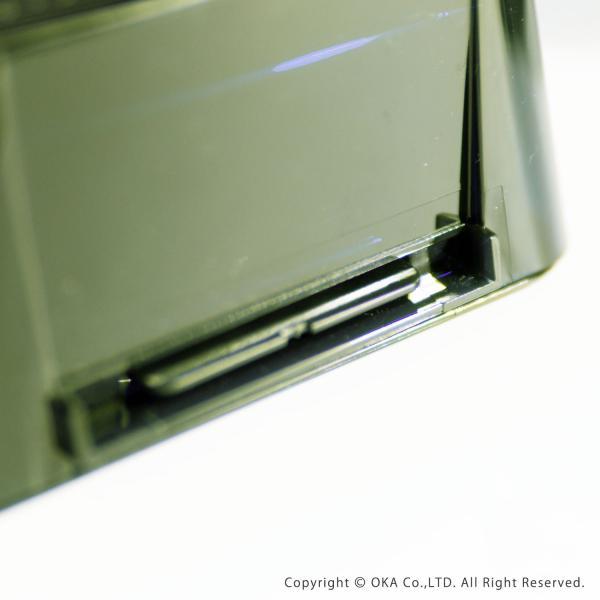 ゴミ箱 PLYS base (プリスベイス) 洗面ゴミ箱 小さい 壁 貼り付けられる マジックテープ クリア 小さめ グッドデザイン賞 m-rug 10