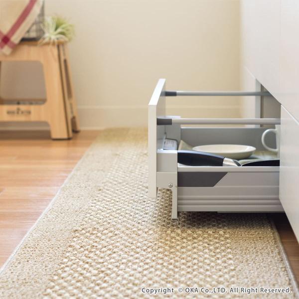ワイド キッチンマット 約252cm×60cm 優踏生(ゆうとうせい) 洗いやすいキッチンマット(ロング 洗える おしゃれ) オカ m-rug 03