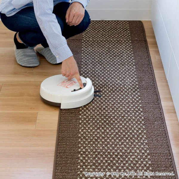 ワイド キッチンマット 約252cm×60cm 優踏生(ゆうとうせい) 洗いやすいキッチンマット(ロング 洗える おしゃれ) オカ m-rug 04