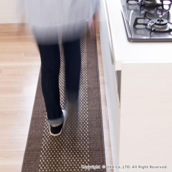 ワイド キッチンマット 約252cm×60cm 優踏生(ゆうとうせい) 洗いやすいキッチンマット(ロング 洗える おしゃれ) オカ m-rug 05