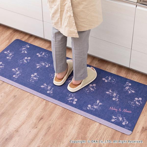 キッチンマット ディズニー 拭いてお手入れするキッチンマット 約45×120cm(拭ける ふける ミッキーマウス プーさん トイストーリー ミニーマウス) オカ|m-rug|13