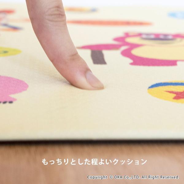キッチンマット ディズニー 拭いてお手入れするキッチンマット 約45×120cm(拭ける ふける ミッキーマウス プーさん トイストーリー ミニーマウス) オカ|m-rug|04