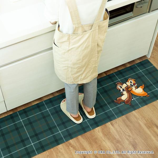 キッチンマット ディズニー 拭いてお手入れするキッチンマット 約45×120cm(拭ける ふける ミッキーマウス プーさん トイストーリー ミニーマウス) オカ|m-rug|06