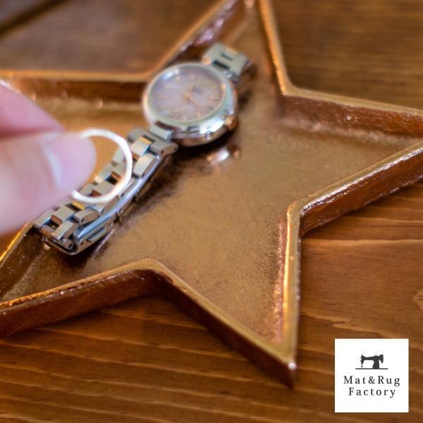 星型トレイ スタートレイ Sサイズ(トレイ 小物入れ 星型 スター 鍵 アクセサリートレイ インテリア 雑貨 かわいい アクセサリー) オカ|m-rug|03