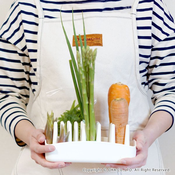 "PLYS 冷蔵庫収納 野菜スタンド ""たてる"" (ベジマジ 野菜保存 ベジタブル 野菜 長期保存 冷蔵庫 食洗機 長持ち) オカ|m-rug|10"