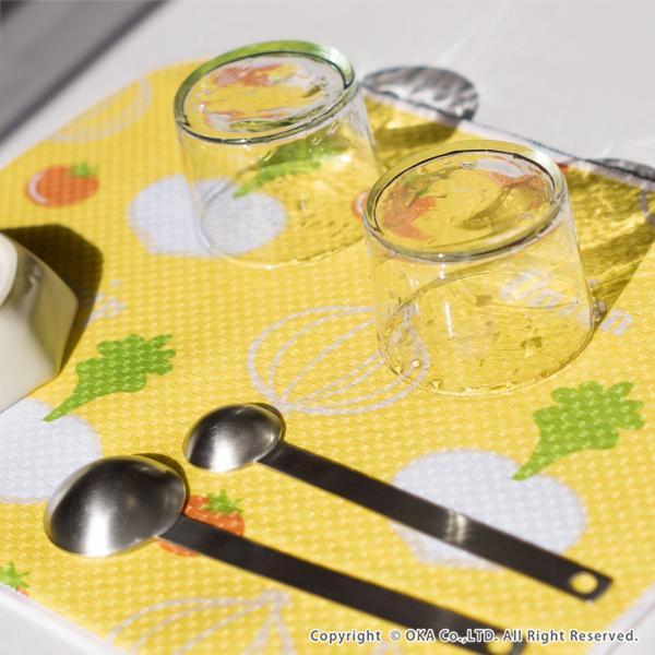 水切りマット (水切り吸水マット ドライングマット 食器 乾燥 乾かす おしゃれ 吸水 食器置き) オカ|m-rug|11