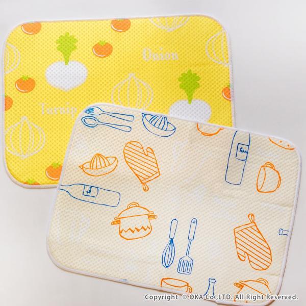 水切りマット (水切り吸水マット ドライングマット 食器 乾燥 乾かす おしゃれ 吸水 食器置き) オカ|m-rug|14