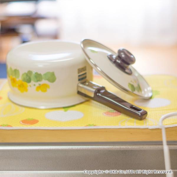 水切りマット (水切り吸水マット ドライングマット 食器 乾燥 乾かす おしゃれ 吸水 食器置き) オカ|m-rug|10