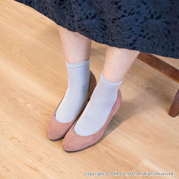 シルク5本指靴下 レディースサイズ  (暖かい あったか  日本製 ソックス シルク 五本指 インナーソックス)  オカ m-rug 13