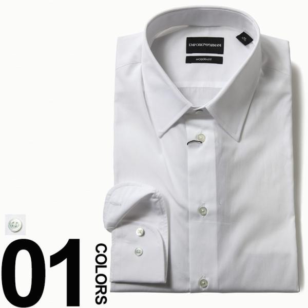 newest b8d6a 25768 EMPORIO ARMANI (エンポリオアルマーニ) ワイシャツ ドレスシャツ 長袖 ブランド メンズ ビジネス EAW1CM5LW11F1