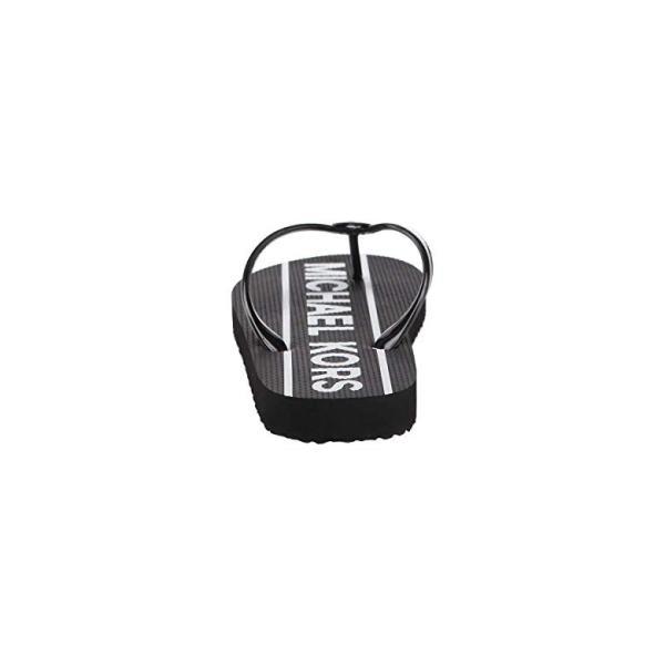 マイケル コース MICHAEL Michael Kors MK Flip Flop レディース サンダル Black PVCu002FMK Graphic Logo Webbing Print