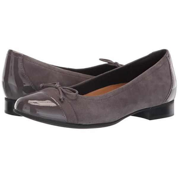 クラークス Clarks Un Blush Cap レディース フラットシューズ Grey Suede/Patent Leather Combination