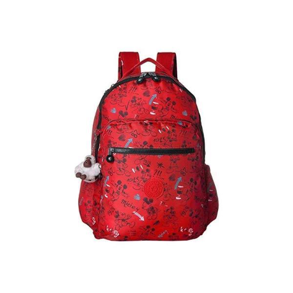 キプリング Kipling Disney Mickey Mouse Seoul Backpack レディース バックパック リュックサック Sketch Red