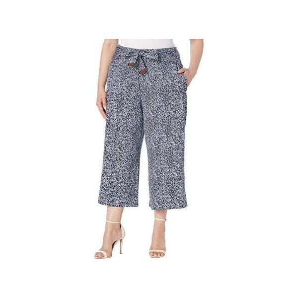 マイケル コース MICHAEL Michael Kors Plus Size Mini Ikat Crop Pants レディース ズボン パンツ Shore Blue