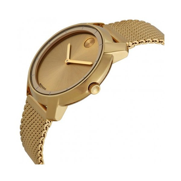 Bold Gold Dial Gold Ion-plated Mesh Watch