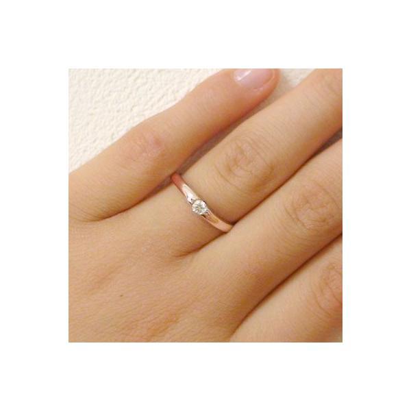 ダイヤモンド ピンクゴールド ホワイトゴールド ペアリング 結婚指輪 マリッジリング ペア 2本セット K10 指輪 ダイヤ 0.1ct