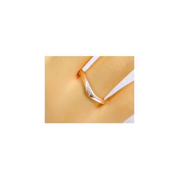 ダイヤモンド ピンクゴールド ホワイトゴールド ペアリング 結婚指輪 マリッジリング ペア 2本セット K18 指輪 ダイヤ 0.03ct
