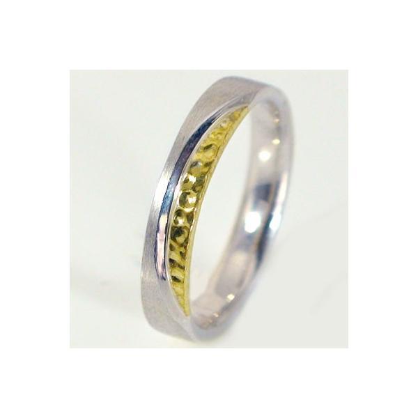 b3b89cc72b ... ホワイトゴールド イエローゴールド ペアリング 結婚指輪 マリッジリング ペア 2本セット K18wg K18yg