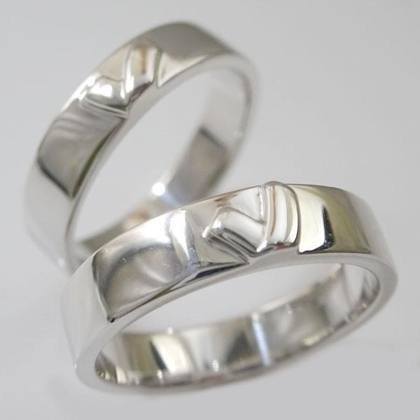 シルバー 結婚指輪 マリッジリング  2本セット ペアリング SV925 キスマーク