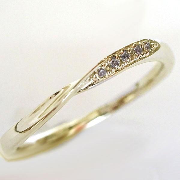 ダイヤモンド イエローゴールドk10 結婚指輪 ペアリング マリッジリング  2本セット K10